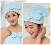 Wholesale Home Textile Useful Dry Hair Hat Microfiber Hair Turban Quickly Dry Hair Hat Wrapped Towel Bathing Cap