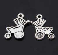 Cheap 1640 Baby carriage charms Tibetan silver Necklace earrings Pendants DIY alloy Charms Jewelry Findings & Components