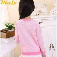 baby knitwear patterns - Baby sweter girl sweater soft cotton england style long sleeve pullover knitwear for babies dot candy pattern pink color G150906