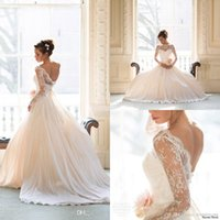 Reference Images long sleeve wedding gowns - 2015 Vintage Wedding Dresses Lace With Long Sleeves Plus Size Wedding Gowns Boho Beach Naomi Neoh Modest Bridal Gowns