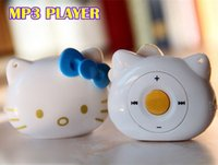 slot machine - Hello Kitty cartoon mini mp3 player with Micro SD Card slot Best Gift For Kids machine earphone usb cable cord freeshipping