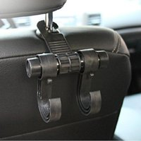 Wholesale New Convenient Double Vehicle Hangers Auto Car Seat Headrest Bag Hook Holder A3004013