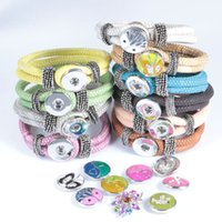 Wholesale Hot DIY Interchangeable Colors PU Leather mm Ginger Snap Jewelry Charm Bracelet Trend Jewelry S60005