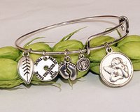 angle love - 12pcs angle silver Hope Love Charm Bracelet Expandable Women Bangles Alex Ani Style jewelry for women bangle