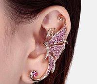 Wholesale Fashion personality wings no pierced earrings ear clip ear bones clip Korean newest creative jewelry gecko butterfly moon