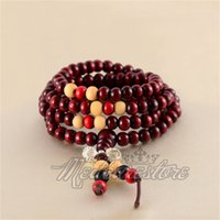 beaded necklaces sale - Hot Sale Beads Sandalwood Buddhist Buddha Meditation mm Prayer Bead Mala Bracelet Necklace