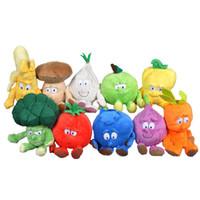 banana vegetable - Retail TCC Goodness gang Stuffed Dolls Cartoon Anime Fruit Vegetable Plush Toy Kawaii Banana Chili Hot Toys For Children Christmas Gift