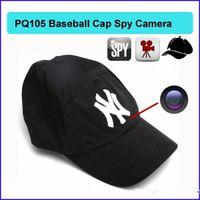 Wholesale 8GB Cap Hat spy Camera Baseball Cap Hat hidden camera video Camcorder with Remote Control outdoor Mini DVR Video Recorder PQ105