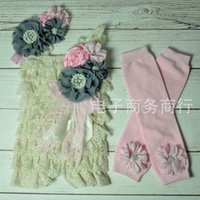 Wholesale Girl Dress Baby One Piece Romper Children Clothes Kids Clothing Flower Jumpsuit Summer Lace Romper Baby Dress Rompers For Babies C8990