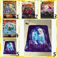 Wholesale High Quality Coral Fleece Frozen Elsa Avengers Air condition Household Blankets Home Decoration Printed Soft Fleece Blanket