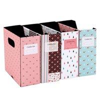 Cheap Foldable Makeup Cosmetic Stationery Paper Board Storage Box Desk Decor Organizer Random Color