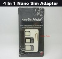 Wholesale Free Shiping In Sim Adapter Micro Sim Adapter The Sims For iPhone Nano Sim Adapter tiggou2