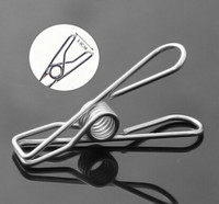 Wholesale Stainless steel clamp small socks washing clothes clip clip to stainless steel clamp washing