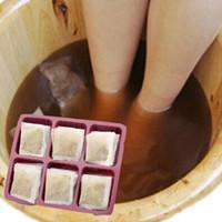 bath salt - Saffron Tibet iris Kudo Rhodiol Notopterygium Sophor Chinese medicine foot bath powder foot massage salt