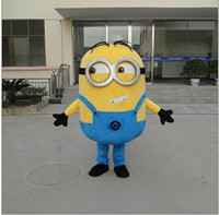 Wholesale 2016 real images suit Despicable me minion mascot costume minion mascot EMS kevin stuart and Bob minion mascot