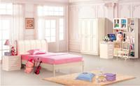 Wholesale Princess Dream House Furniture Bedroom Furniture wood furniture Bed desk wardrobe cabinet White Wood Furniture MYL6603