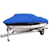 Wholesale Heavy Duty ft Beam inch Trailerable D Marine Grade Boat Cover Waterproof UV Protected Blue