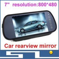 Wholesale 7 quot TFT LCD Monitors Digital Car Rear view Color Camera Monior TV Signal input display resolution x480