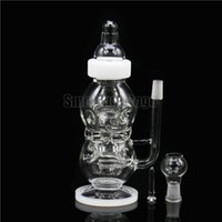 babies cheese - Smoking Dogo High Tech Glassworks Clear Swiss Perc Faberge Egg Cheese Baby Bottle Rig Oil Rig Water Glass Bong New Design White BO
