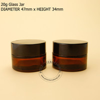 Wholesale New Arrival excellent g Empty Amber Glass Cream Jar Split Charging Bottle Make Up Container For Hand Cream