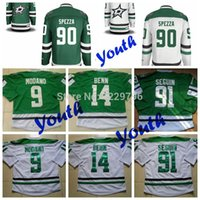 Wholesale Youth Dallas Stars Hockey Jerseys Jason Spezza Jamie Benn Mike Modano Tyler Seguin Kids Home Green White Cheap Jersey