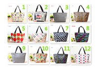 Wholesale 2014 New Fashion Medium Tote Bags Print Mulltifunction Handbags Colorful Waterproof Canvas Oxford Fabric Lunch Bags Colors MM82
