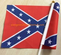 Wholesale Confederate Flag X CM Rebel Small Flags Civil War Flag National Polyester Flag inch X inch