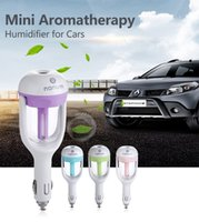 Wholesale Car Air Humidifier Aromatherapy Vehicle mounted Mini Humidifier Car Fresh Accessories ML Humidifier Purifier