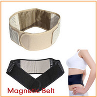 Wholesale 100ps CCA1941 Hot Magnetic Slimming Massager Belt Lower Back Support Waist Lumbar Brace Belt Strap Backache Pain Relief Health Care