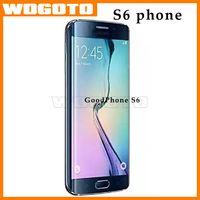 De calidad superior S6 Celular s6 Android 512m Teléfono / 8GB MTK6572 Dual Core 1.4 GHz 2200mah 960x540 pantalla barco rápido DHL libre