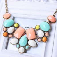 Chokers thanksgiving - Resin Bubble Bib Statement Charms Choker Necklace Jewelry For Thanksgiving Day Christmas Gifts XL5586