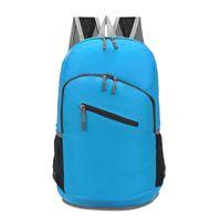picnic backpack - Portable Folding Double Shoulders Bag Foldable Zipper Oxford Backpack Camping Hiking Picnics Knapack hb358