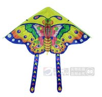Wholesale is meters small butterfly kite kite children printing light cloth Cartoon butterfly kites15070407