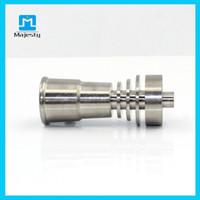 Wholesale 2015 top selling MJB TF48 female titanium d nail domeless mm mm hookah titanium nai for Glass Bongs Glass Pipe