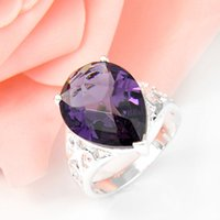 amethyst fashion rings - 2015 Top Fashion Cluster Rings Men s Wedding Rings Top Quality Drop Amethyst Gemstone Sterling Silver Ring Wedding Jewelry Gift