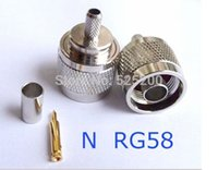 Wholesale 10pcs N male crimp straight connector to LMR195 RG58 tyco adapter