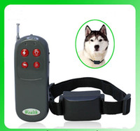 Wholesale 4 in Remote Pet pager tainer vibration and whistle Pet Trainer Dog Electric Shock Vibrate Training Collar Remote Trainer