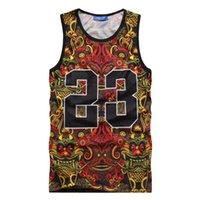 Wholesale 2015 Fashion men Tank tops d vest men women tanks undershirt Vest sports casual shirt Jordan hip hop tank top floral jersey