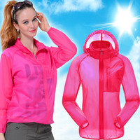 Wholesale Ultra Thin Cycling Skin Jacket Hiking Sping Summer Anti UV Couple Models Breathing Fast Drying Coat For Unisex
