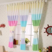 Wholesale 2 meters short curtain rustic dodechedron child real piaochuang semi shade short curtain three color dot
