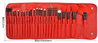 amazon promotional - Low cost promotional spot red makeup brush sets Amazon explosion models red brushes