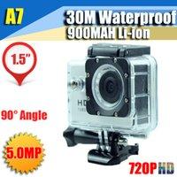 Wholesale A7 SJ4000 Waterproof Sport DV CAR DVR HD Camera Camcorder Gopro Style Novatek P fps MP H Inch LCD