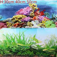aquarium plants pictures - 30cm cm cm High LIVE Aquarium Background Fish Tank Landscape Plants Poster Double Sided Picture Wall Decor NEW