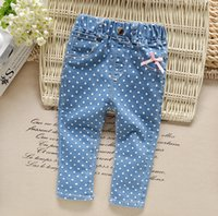 Wholesale Kids Clothing Jeans Pants Spring Autumn Fashion Elastic Waist Straight Trousers High Quality Hot Sale DHL