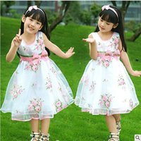 Wholesale 2015 New Fashion Summer New Children S Clothing Girls Dress Rose Put On A Large Cinderella Dress Girl Princess Dress Ly05