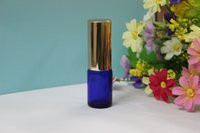 Wholesale ML Blue Glass Atomizer Bottle Vial For Essential Oil Perfume Make up water and perfume bottles