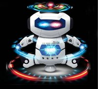 action stunts - Stunt Kidrobot Superhero Dance Electric Robot With Light Music Musical Toys For Children Infant Adult Action Figures Hotsale Toy