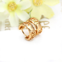 indian jewelry - Birthday Valentine Gift k Gold Hoop Earrings Hollow Round Wide Earrings brincos de prata indian jewelry Female J0004