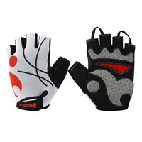Wholesale breathable half finger cycling gloves Prevent slippery wear resisting white S M L XL CL14