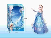 barbies dolls - New CM Cartoon Frozen Pincess Elsa Dancing Toys Frozen Barbie Dolls For Girls Dancing Music Elsa With Light Elsa BJD Doll Free Shippi